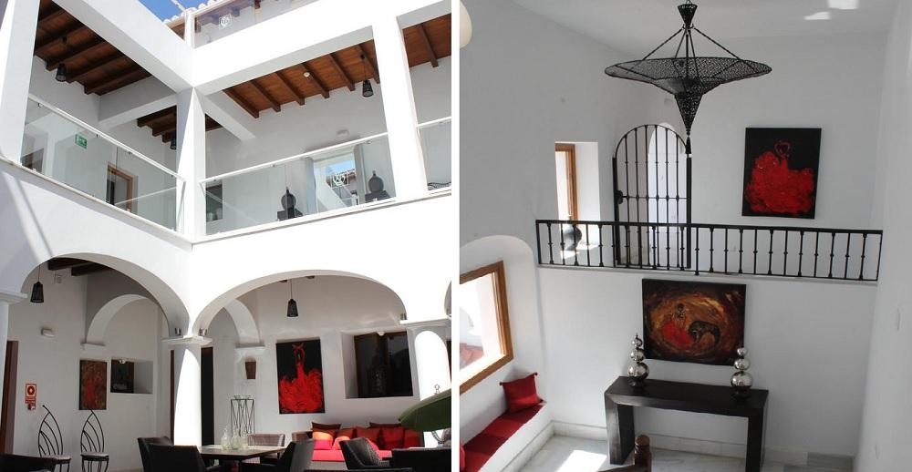 Interiors of Hotel Palacio Blanco