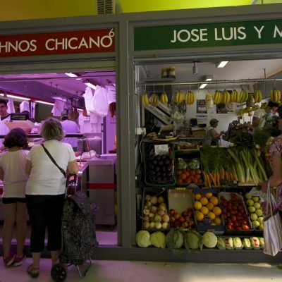 Food market in Velez-Malaga