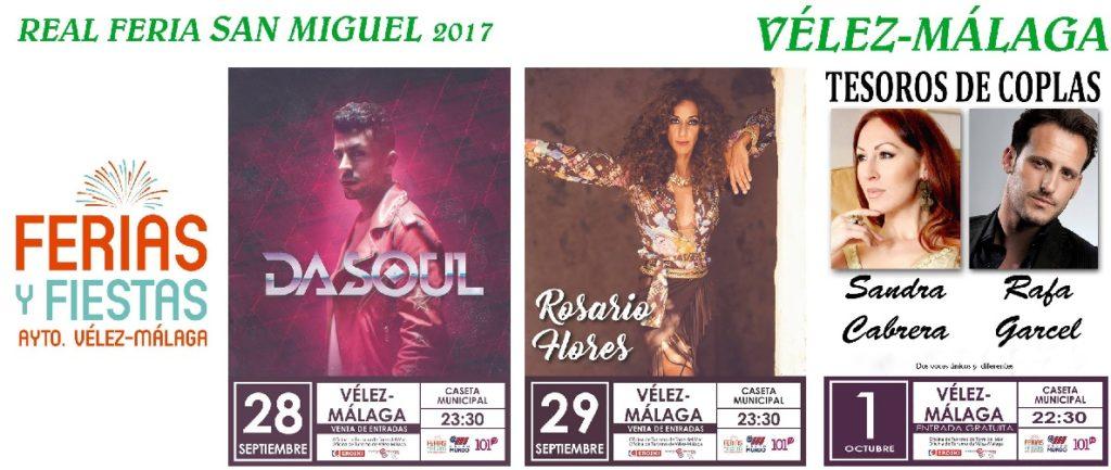 Concerts at Velez-Malaga Feria 2017