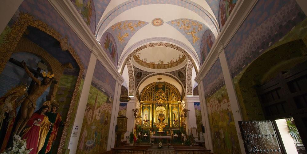 Colourful Interior of The Hermitage in Velez-Malaga