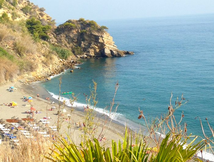 Maro Beach in Nerja Andalucia