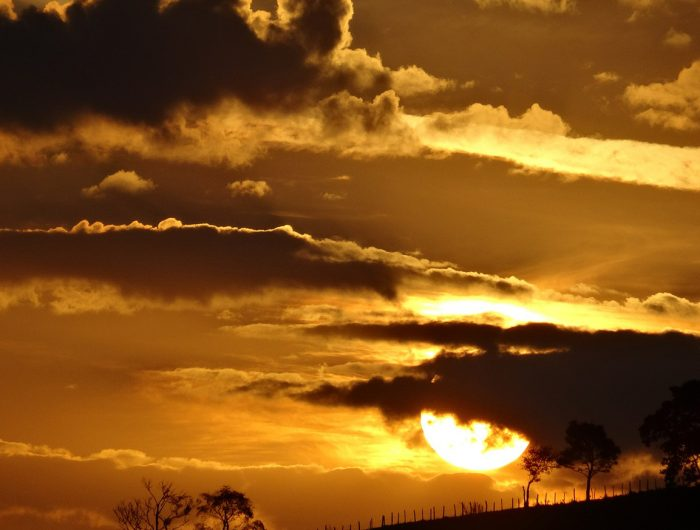 deep orange cloudy sunset