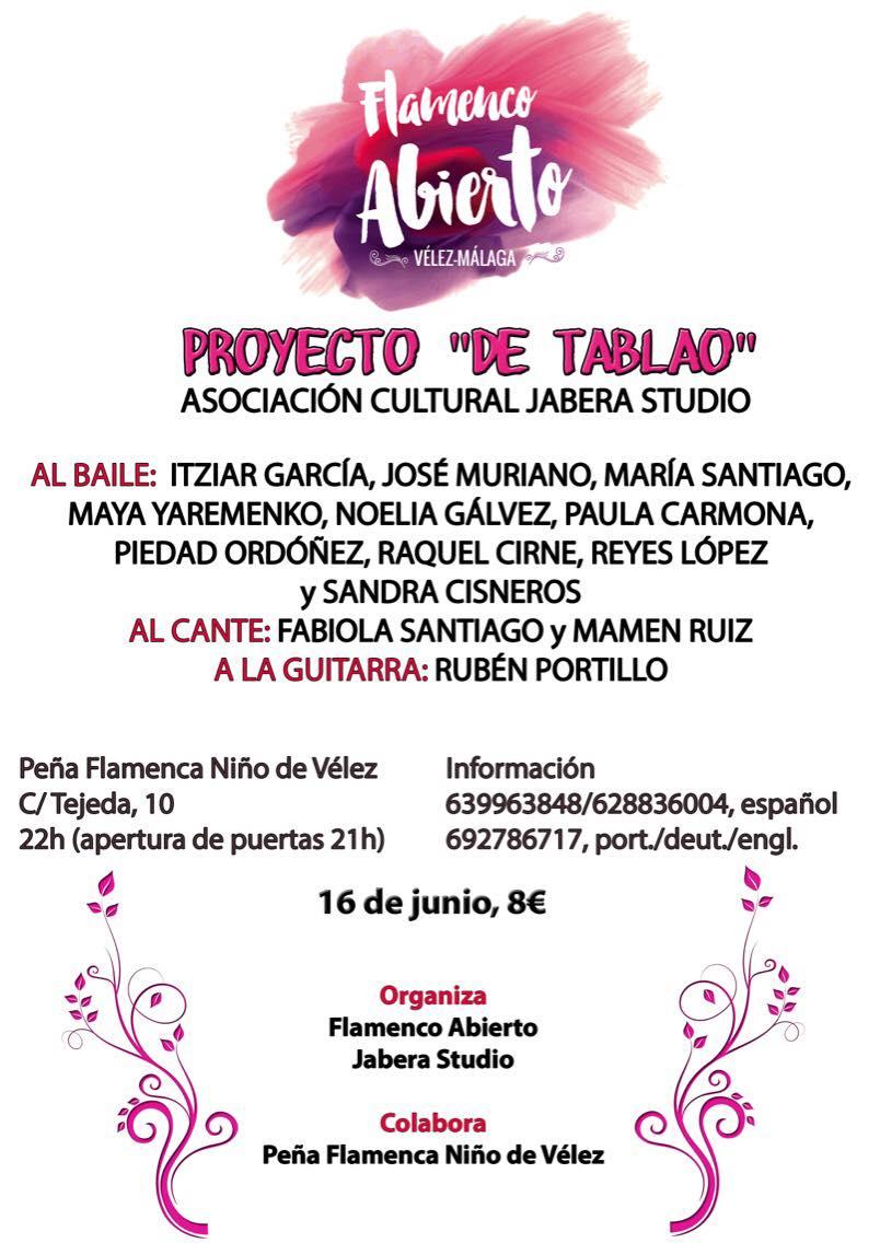 proyecto tablao flamenco poster