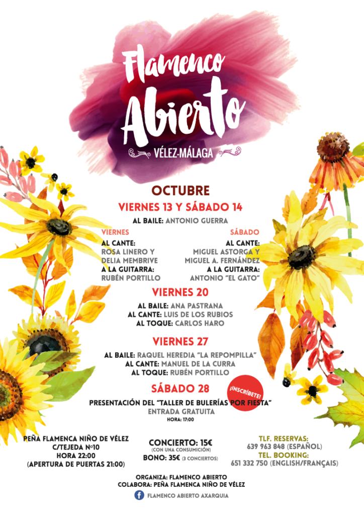 flamenco abierto poster