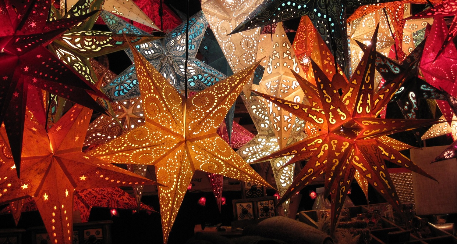 decorations at christmas market