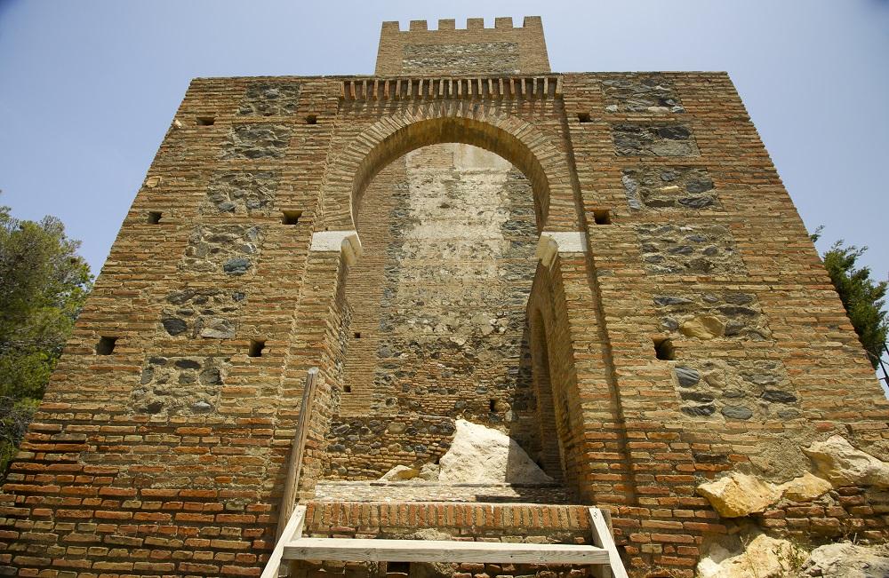 Moorish keyhole entrance, La Fortaleza, Velez-Malaga