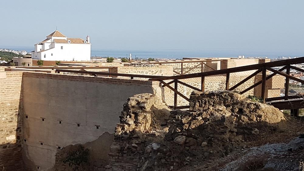 Reconstructed walls of the Fortaleza, Velez-Malaga