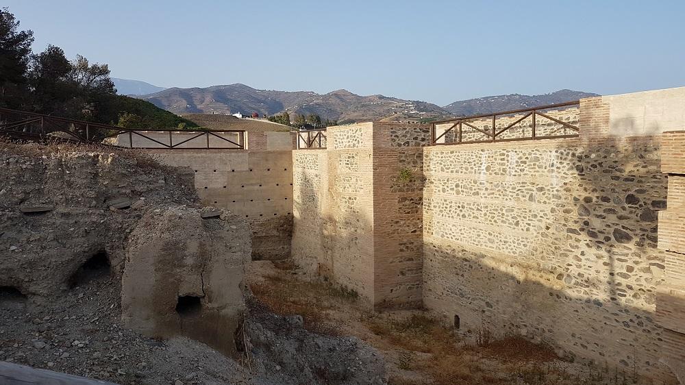 Walls of the Fortaleza in Velez-Malaga