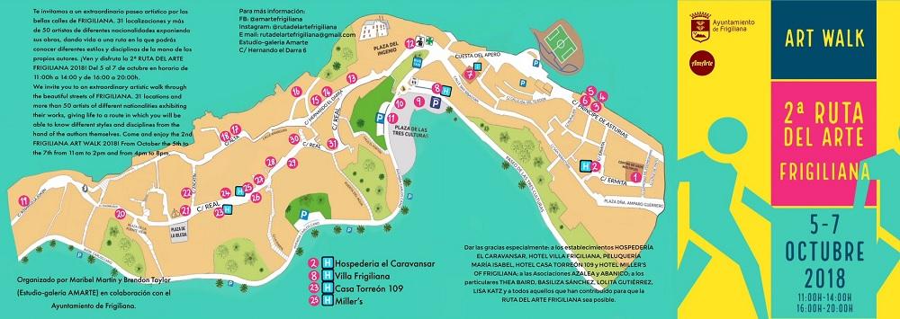 Frigiliana Art Walk Map