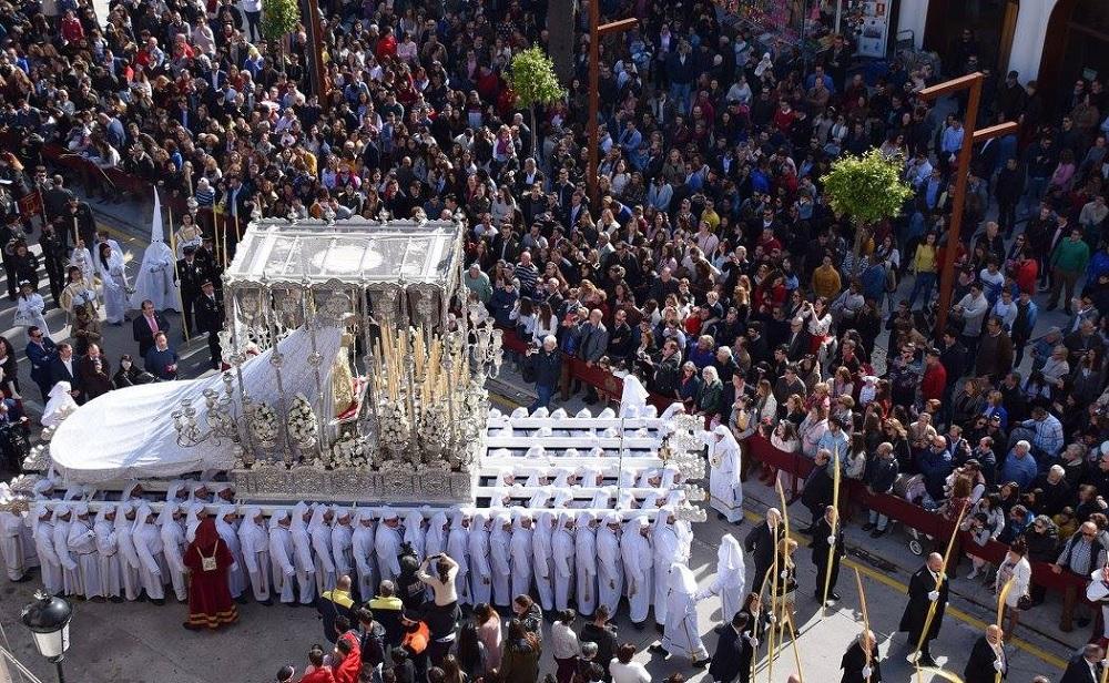 Palm Sunday in Plaza Constitucion, Velez-Malaga